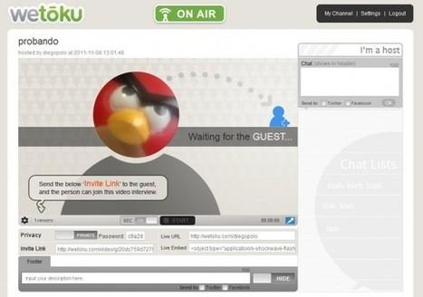 wetoku nos ayuda a divulgar nuestras videoconferencias en Internet | Webconference  and Video Streaming Tools | Scoop.it