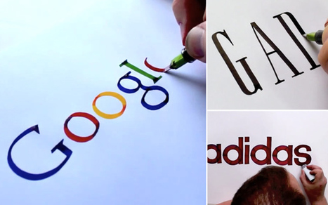 Les logos célèbres à main levée de Seb Lester | Instantanés | Scoop.it