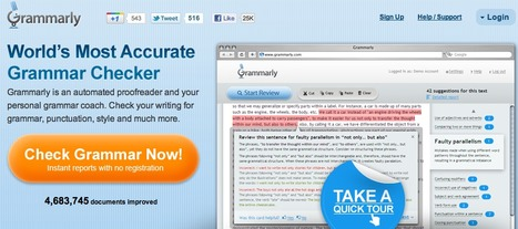 Grammarly - world's most accurate grammar checker and automated proofreader | EFL and ESL Techno Skills | Scoop.it