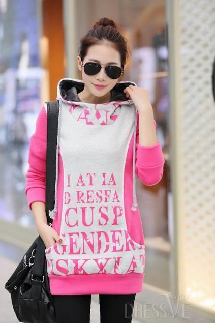 Letters Print Thick Pullover Hoody   Dressve fashion   Scoop.it