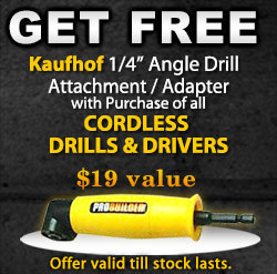 """FREE Kaufhof 1/4"""" Angle Drill Attachment 
