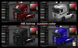 Custom Color Mod for MB Actros | Euro Truck Simulator 2 | Scoop.it