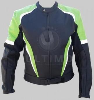 Black Green Stylish Biker Jacket   You like leather jackets since nobody ignored it   Scoop.it
