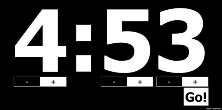 Edu-Curator: Voor je digibord! Simple Online Timer in zwart / wit | Educatief Internet - Gespot op 't Web | Scoop.it