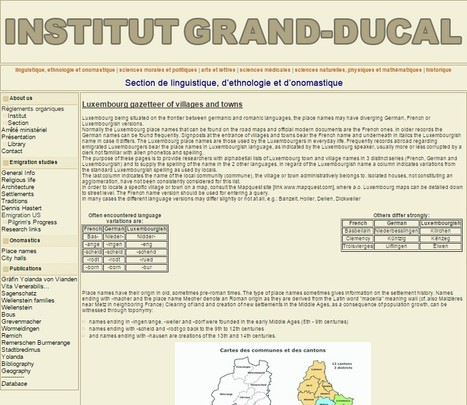 Institut grand-ducal | Luxembourg gazetteer of villages and towns | Europe | Luxembourg (Europe) | Scoop.it