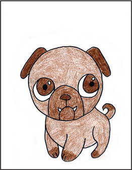 Art Projects for Kids: How to Draw a Pug Tutorial | Artistic Line Designs-all free | Scoop.it
