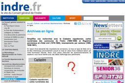 GénéInfos: Des nouvelles de l'Indre en ligne...   GenealoNet   Scoop.it