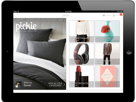 Pickie Uses Social Data Regarding Products To Generate Personalized iPad-Based Magazines For Shopping | WebDsign | Scoop.it
