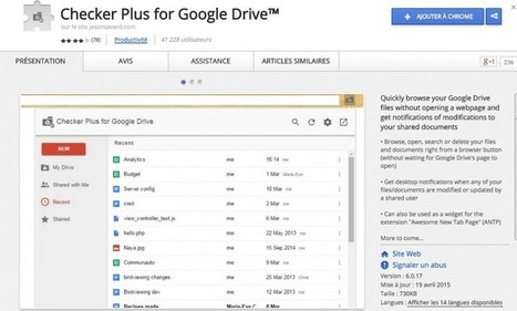 Checker Plus for Google Drive – Explorez votre drive sans l'ouvrir | Time to Learn | Scoop.it