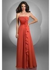 Sheath Column Strapless Floor Length Orange Bridesmaid Dress Bbbj0033 for $342 | 2014 landybridal wedding party dresses | Scoop.it