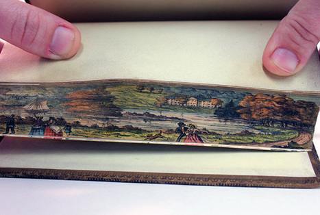 Secret Fore-Edge Paintings Revealed in Early 19th Century Books at the University of Iowa | Colossal | Visual art | Scoop.it