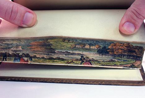 Des peintures cachées dans la tranche des livres ( 1650 - 1900 ) | alexfromdijon | Scoop.it