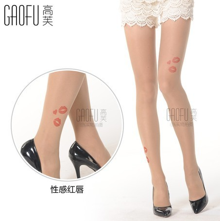 Fashion tights with tattoo design GF-8110 sexy lips 120D | Fashion wearing(tights) | Scoop.it