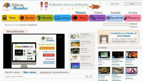 Aprendo en la web: Plataforma colaborativa de videos educativos: EducaMundus | EDUCACIÓN en Puerto TIC | Scoop.it