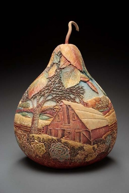 The Delicate Gourd Carving Art of Marilyn Sunderland | Share Some Love Today | Scoop.it