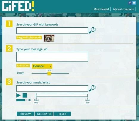 Dos herramientas para trabajar con imágenes animadas GIF | Educacion, ecologia y TIC | Scoop.it