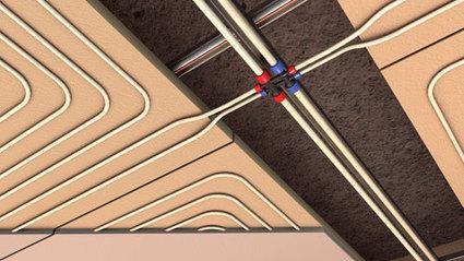 Impianto di riscaldamento a pavimento e a soffitto a pannelli radianti RBM | Smart Domus Plus | Case prefabbricate | Scoop.it