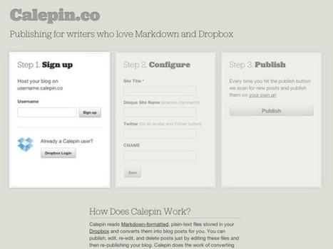 Créer son blog hébergé sur Dropbox avec Calepin | Les Outils - Inspiration | Scoop.it