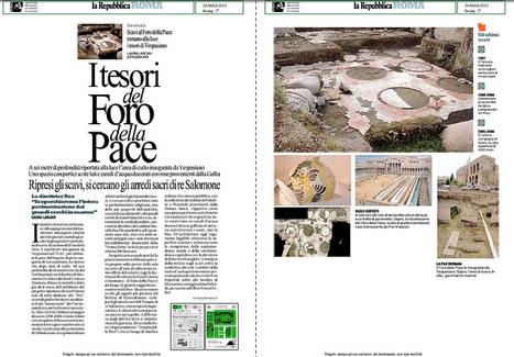 Scavi al Foro della Pace alla luce i tesori di Vespasiano, LA REPUBBLICA (24/05/2012), p. 17.   LVDVS CHIRONIS 3.0   Scoop.it