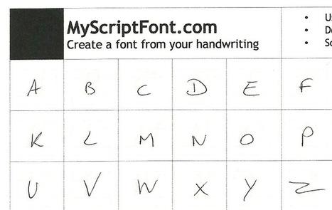 Créez une police à partir de votre écriture manuscrite. | Time to Learn | Scoop.it