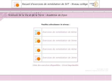 SVT: exercices de remédiation en collège | SVT - Lycée Franco Australien de Canberra | Scoop.it