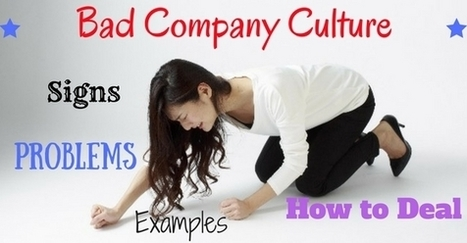 Bad Company Culture: Signs, Problems, Examples & How to Deal | Corporate Culture and OD | Scoop.it