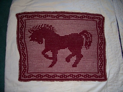 Little Prancer filet crochet horse PATTERN ONLY | crochet | Scoop.it