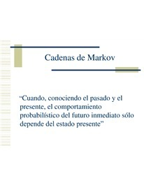 Cadenas de Markov - Download Now PowerPoint | UNIDAD 4 | Scoop.it