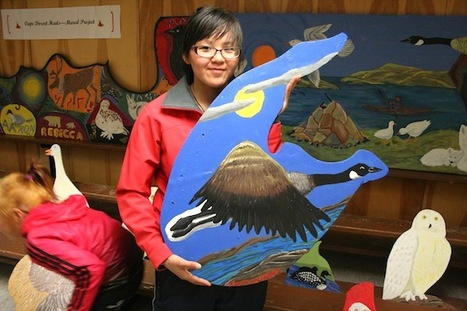 "Cape Dorset youth refuse to give up hope: Artist Diana Boudreau ""Painting gives you pride"" 
