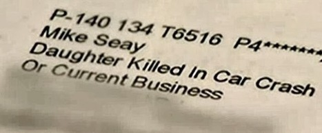 """OfficeMax Letter Addressed to """"Daughter Killed in Car Crash"""" 