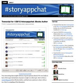 #Storyappchat: a Twitter Chat for Story App Creators and Aficionados | Sylvia Liu Land | Digital publishing & ebooks | Scoop.it