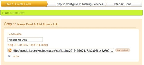 Course: Pushing Moodle Content to Twitter   Aprendizaje red   Scoop.it