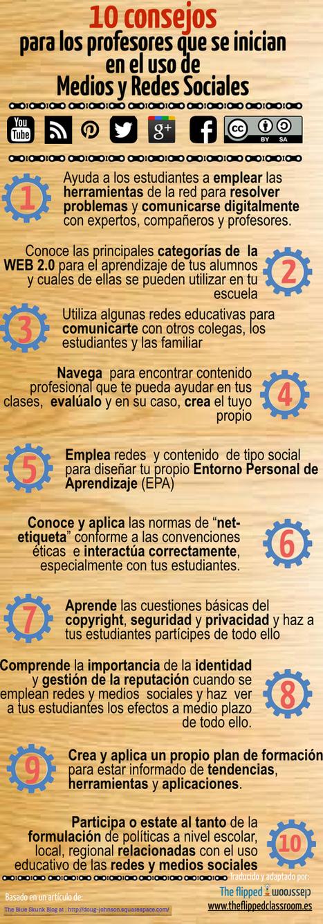 11 consejos para profesores que comienzan en Redes Sociales #infografia #socialmedia | Learning with Technology | Scoop.it