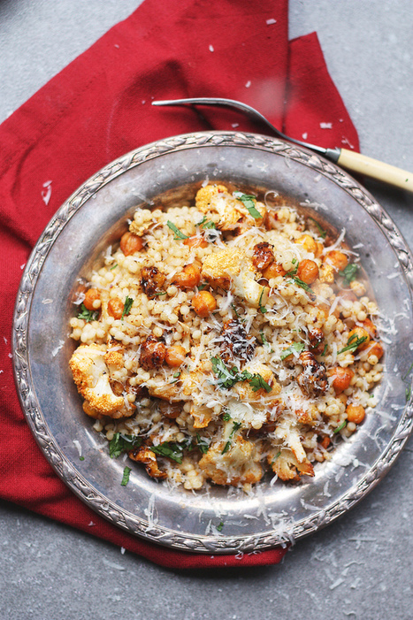 ROASTED CAULIFLOWER AND GARBANZO COUSCOUS With BALSAMIC CANDIED WALNUTS   The Man With The Golden Tongs Goes All Out On Health   Scoop.it