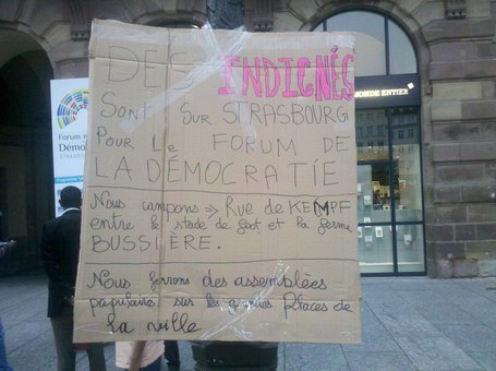 Les Indignés ( Strasbourg ) Campement Ferme Bussière #occupyfakedemocracy   #OCCUPYfakeDEMOCRACY   Scoop.it