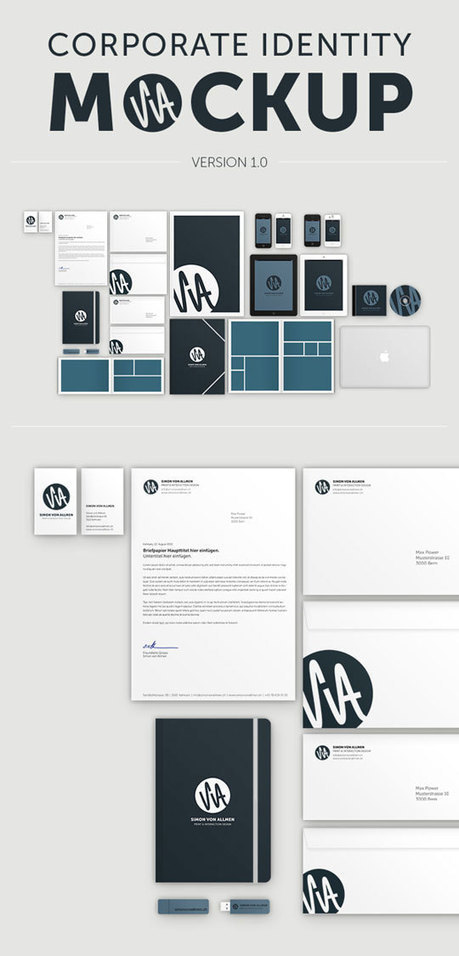 23 Free Sets Of Branding/ID Mockup Templates (PSD) To Present Your Company In a Modern Way | Repear | Scoop.it