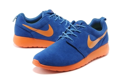 Nike Roshe Run Mens Shoes Blue Orange | Cheap KD Shoes | Scoop.it
