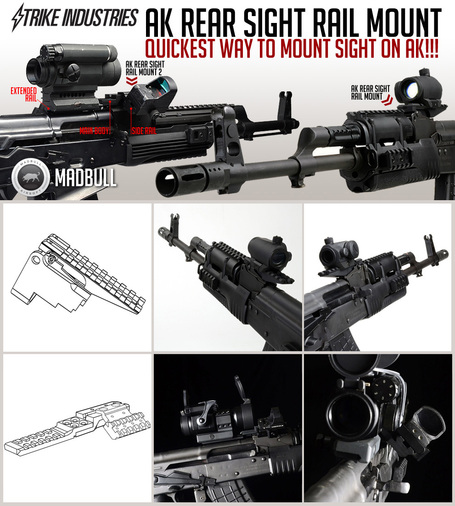 AK Sight Mounts from Madbull Airsoft, The Leader in Airsoft Innovation | Thumpy's 3D House of Airsoft @ Scoop.it | Scoop.it
