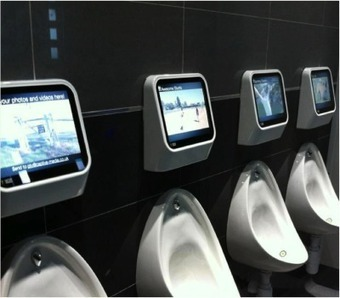 Pissing Money Up A Wall? Captive Media's Interactive Urinal Gets Crowdfunded | MarketingHits | Scoop.it