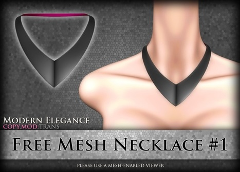 Mesh Triangle Shape Necklace by Modern Elegance | Teleport Hub - Second Life Freebies | Second Life Freebies | Scoop.it