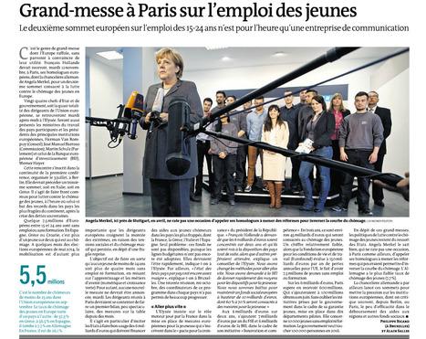 Grand-messe à Paris sur l'emploi des jeunes - Le Monde 13 nov 2013   Entreprise-Formation-Handicap   Scoop.it