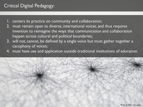 4 Characteristics Of Critical Digital Pedagogy | Café puntocom Leche | Scoop.it