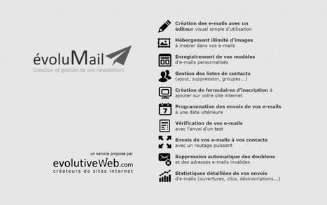 Présentation de évoluMail, notre solution pour la création et la gestion de vos newsletters - Actualités - evolutiveWeb.com | Actus de l'agence, infos et conseils en e-communication et entrepreunariat | Scoop.it