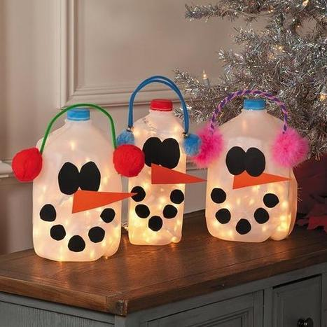 Milk Jug Snowmen | Craftspo | Scoop.it