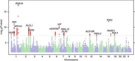 Genes and Sleep - Major study on 89,283 individuals suggesting genetic variants associated with being a morning person : Nature Comm | Chronobiologie et lumière - chronobiology and light | Scoop.it