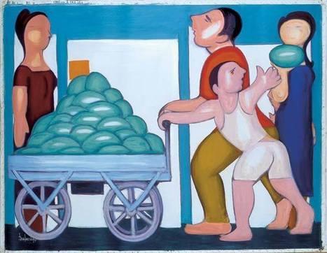 ΔΙΑΜΑΝΤΟΠΟΥΛΟΣ Δ. ΠΙΝΑΚΑΣ - Τα καρπούζια   Favorite Paintings digital   Scoop.it