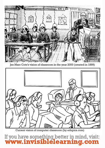 (Created in 1899) Jen Marc Cote's vision of classroom in the year 2000. | All things related to educational technology | Classroom Communication and Technology | Scoop.it