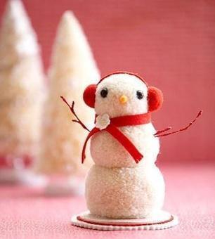 Pom Pom Snowman | Craftspo | Scoop.it