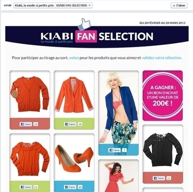 Kiabi invite ses fans à liker ses articles en magasin | Community management 3.0 | Scoop.it