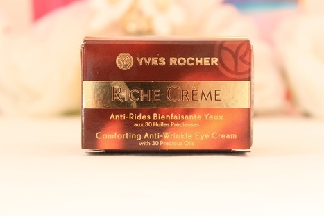 Yves Rocher Riche Creme Eye Cream   Review - Lipgloss and Lashes   Yves Rocher   Scoop.it